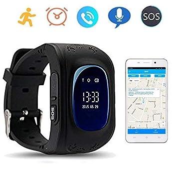 Montre Bracelet Intelligente Traqueur GPS Téléphone SOS Anti-perte pour Enfants Contrôle par Smartphone iPhone