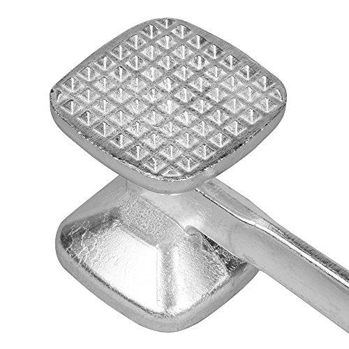 Happy Hours Pro Powerful 2-in-1 Solid Cast Heavy-duty Aluminum Alloy Double-Sided Commercial Grade Food Safe Meat Tenderizer Mallet Hammer, Size XL 25.5cm 6.5cm 6.5cm by Happy Hours® (Image #8)'