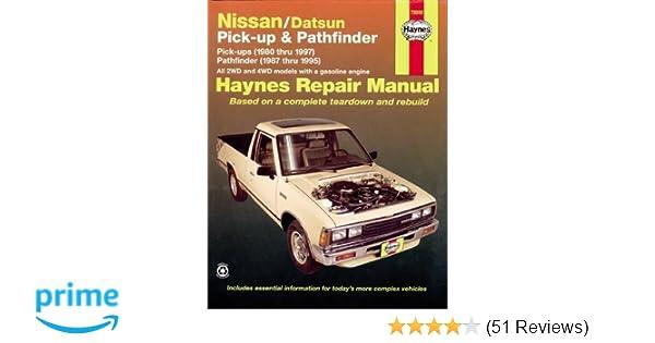 Nissan datsun pickup 8097 pathfinder 8795 haynes repair nissan datsun pickup 8097 pathfinder 8795 haynes repair manuals haynes 0038345007712 amazon books fandeluxe Choice Image