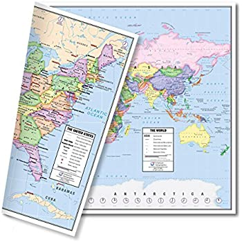 Amazon.com : North America Laminated Gloss Full Color Time