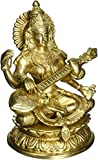 (US) Mother Saraswati - A True Picture of Wisdom and Affection - Brass Statue