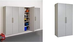 "Prepac HangUps Storage Cabinet Set, E-3 pc, Light Gray & Hang-Ups Storage Cabinet, 36""/Large, Light Gray"