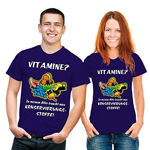 Spass T-Shirt Vitamine? In meinem Alter braucht man Konservierungsstoffe! Fb navyblau