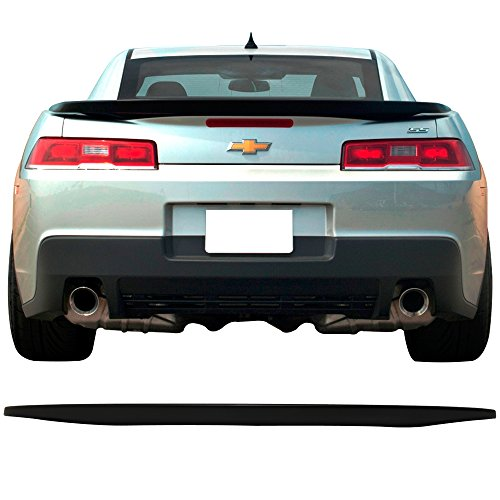 Trunk Spoiler Fits 2014-2015 Chevy Camaro | Factory Style Matte Black MB ABS Car Exterior Rear Spoiler Wing Tail Roof Top Lid by IKON MOTORSPORTS