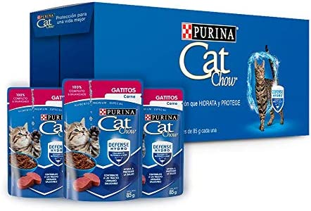 Cat chow defense hydro gato carne alimento húmedo Pack 24 2