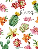 capa de 2019-2020 Planner: Daily Weekly Monthly Calendar Planner - 24 Months Jan 2019 - Dec 2020 for Academic Agenda Schedule Organizer Logbook and Journal ... to to List - Watercolor Happy Cactus Cover