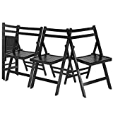 Antique Oak Folding Chairs Chairs Folding Wood Style Antique Portable.4Pcs.