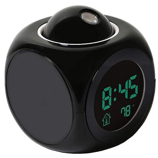 Proyección Digital Tiempo LCD Snooze Alarm Clock, Proyector ...