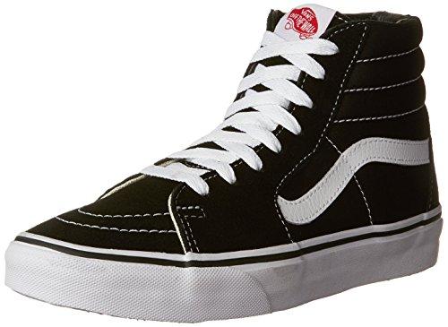 Vans Unisex Sk8 Hi Black Black White Skate Shoe 7 Men Us   8 5 Women Us