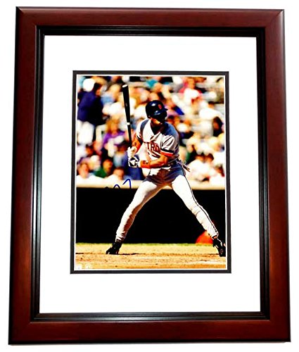 Eric Davis Signed - Autographed Detroit Tigers 8x10 inch Photo MAHOGANY CUSTOM FRAME - 1990 World Series Champion