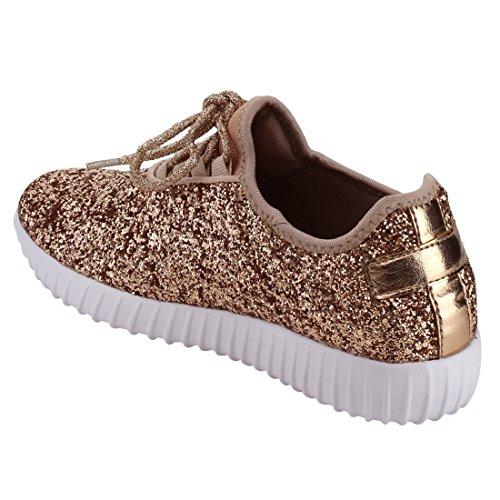 Voor Altijd Link Remy-18 Glitter Sneakers Voor Dames | Mode Sneakers | Sprankelende Schoenen Voor Vrouwen Rose Goud