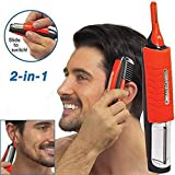 2 in 1 Hair Trimmer Switchblade Shaver Grooming Kit with LED...
