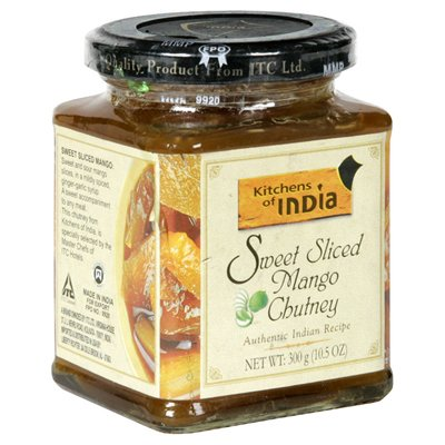 Mango Sweet Chutney (Kitchens of  India Sweet Sliced Mango Chutney, 1.5-Ounce Glass (Pack of 6))
