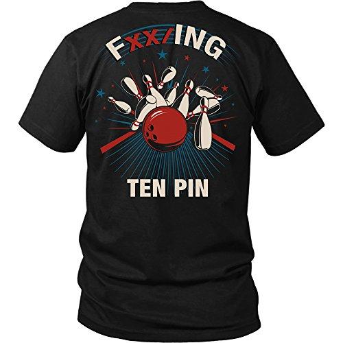 FXX/ing Ten Pin - Bowling Shirt Apparel (XL, Black) (Ten Pin Bowling Shirts)