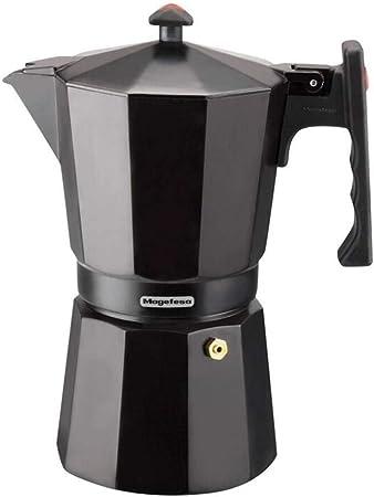 MAGEFESA Colombia – La cafetera MAGEFESA Colombia está Fabricada en Aluminio Extra Grueso. Pomo y Mangos ergonómicos de bakelita Toque Frio. (Negro, 12 Tazas): Amazon.es: Hogar