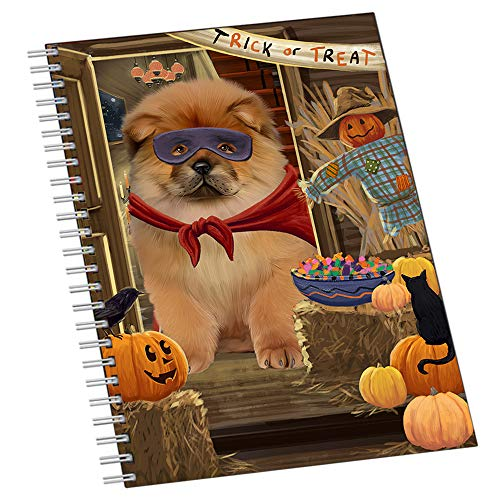 Enter at Own Risk Trick or Treat Halloween Chow Chow Dog Notebook NTB51923]()