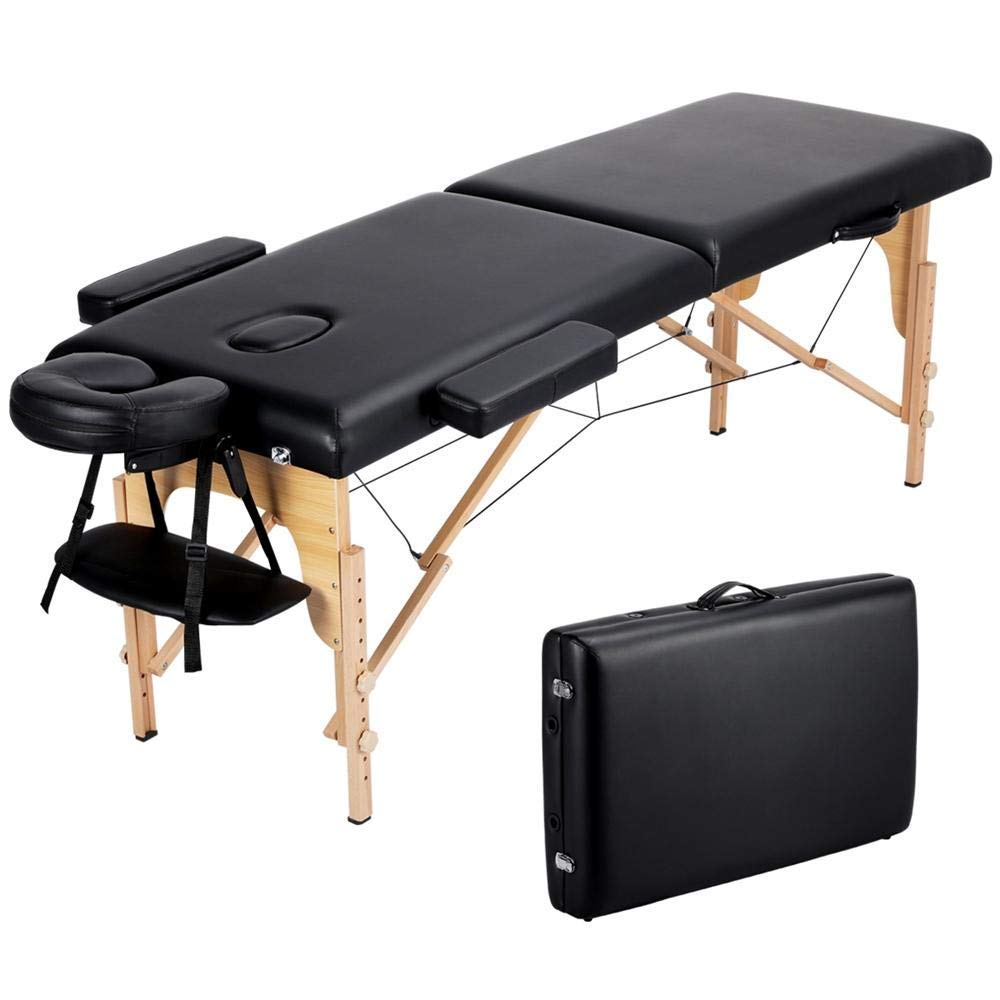 Amazon Com Topeakmart 84 Inch 2 Fold Portable Massage Bed Therapy Table Collapsable Treatment Table Beauty