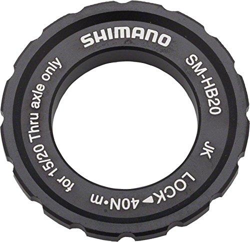 (Shimano SM-HB20 15/20mm Axle Hub Centerlock Rotor Lockring)