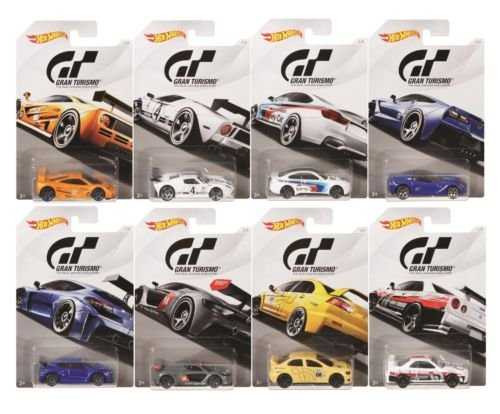 GRAN TURISMO ASSORTMENT SET OF 8 FKF26-999A NEW DIECAST TOYS CAR HOT WHEELS 1:64 BASICS