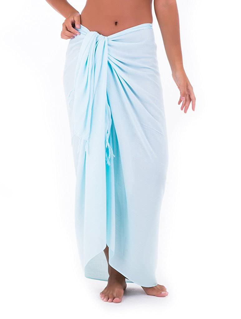 b62a1f84a57 Shu-Shi Womens Beach Cover Up Sarong Swimsuit Cover-Up Many Solids Colors  to choose