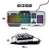 ONEXELOT Aluminum gaming keyboard, USB wired RGB backlit Revolutionary semi mechanical keyboard mod ENIGMA
