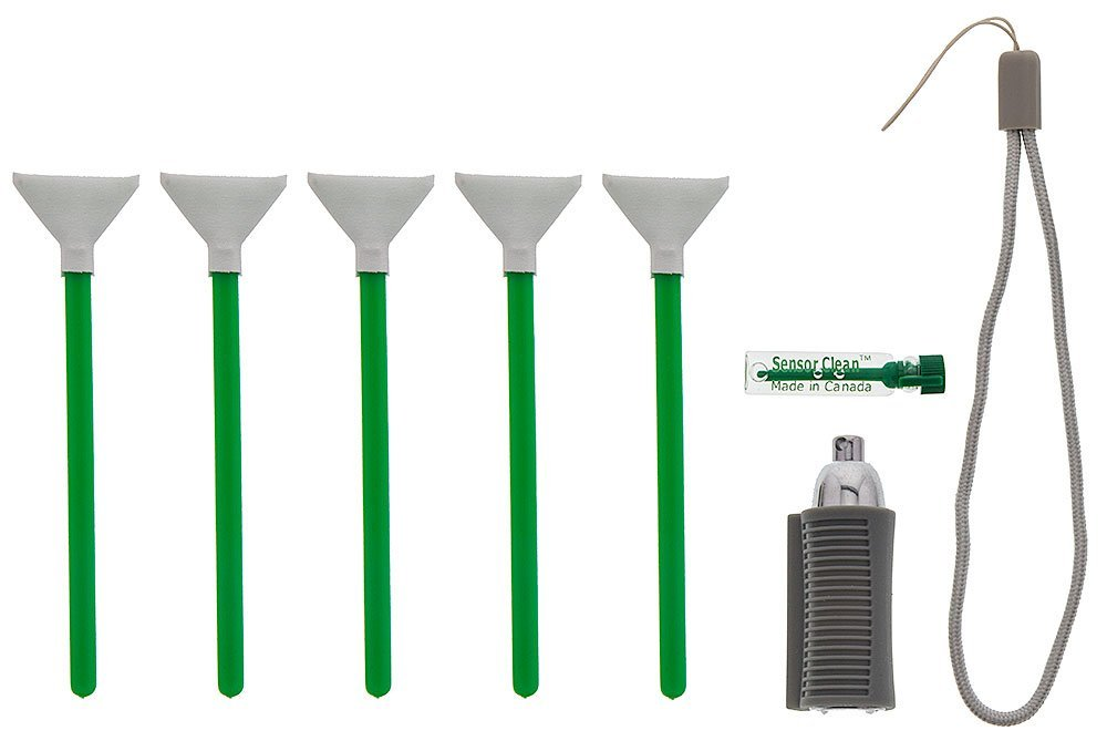 Visible Dust EZ SwabLight Kit with Ultra MXD-100 1.0x (24mm) Green Vswabs and Sensor Clean Liquid