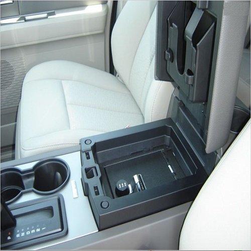 console-vault-gun-safe-09-13-ford-expedition-w-sync-system-barrel-key-lock
