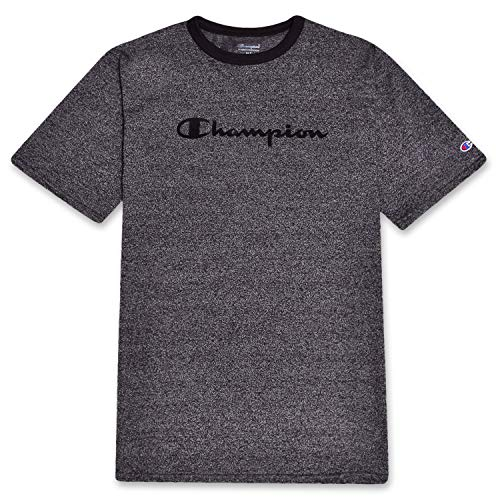 Charcoal Ringer - Champion Mens Big and Tall Short Sleeve Ringer Tee Charcoal Marled 4X