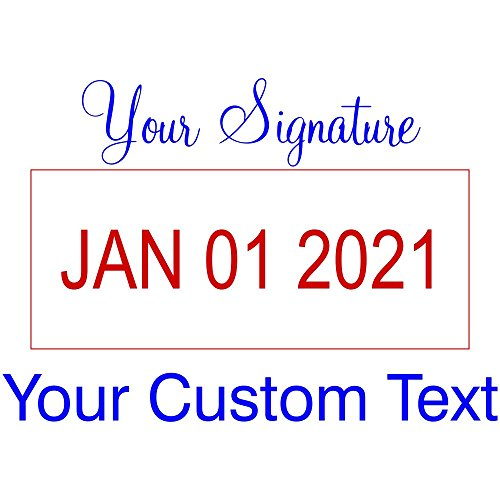 Signature Date Stamp - Custom Text With Your Signature Top Dater Stamp