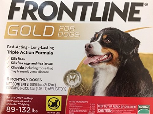 Frontline Gold for Dogs 89132 lbs Red (6 Month)