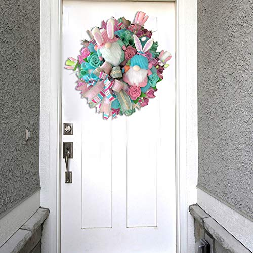 Easter Door Decorations,Easter Decorations,Easter Bunny Butt, DIY Plush Easter Rabbit Wreath Embellishment Kit, Easter Spring Outdoor Indoor Hanging Welcome Sign Wreath
