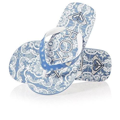 Roxy Mädchen Pebbles VI Zehentrenner Blau (Blue/White Bwt)