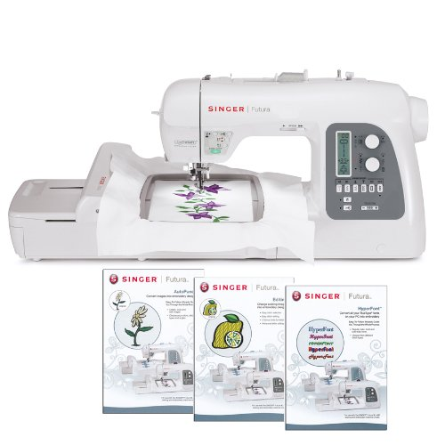 SINGER Futura XL-550 Embroidery and Sewing Machine Including 125 Embroidery Designs, 215 Built-in...