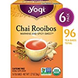 Yogi Tea, Chai Rooibos, 16 Count (Pack of 6), Packaging May Vary