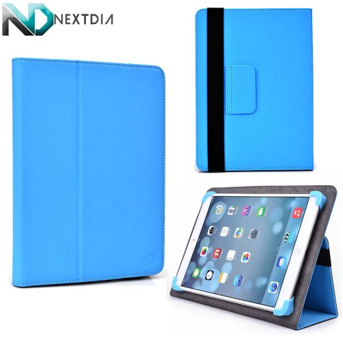 """Alcatel One Touch Tab 7 Case Stand Folio Protective Cover with Soft Grip Clips - Universal Style fits Most 8"""" Devices 