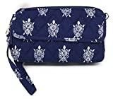 Vera Bradley All In One Cross-body Bag for iPhone 6 with Updated Solid Interiors (Sea Turtles with Navy Interiors)