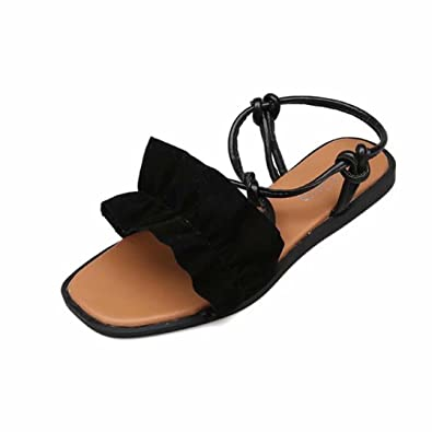 7e63f5a4dd6303 Lolittas Sandals Summer Beach Black Sandals for Women Ladies ...