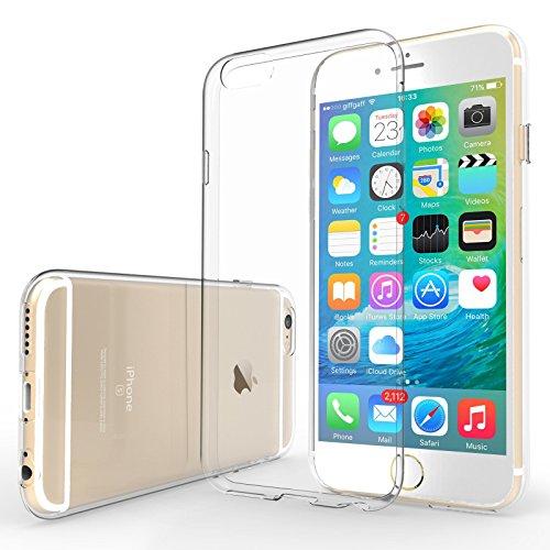 Yousave Accessories iPhone 6S / 6 Custodia Protettiva Trasparente Ultrasottile Di Gel In Silicone TPU 0,5 Mm [Misure Perfette]