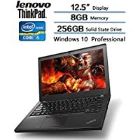 Lenovo ThinkPad X260 Business Laptop, 12.5 IPS Anti-Glare, Intel Core i5-6300U Processor (up to 3.00 GHz), 256GB SSD, 8GB DDR4 Memory, Win 10 pro W/ Backlit Keyboard, FP Reader