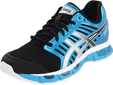 ASICS Women's GEL-Cirrus33 Running Shoe,Black/Granite/Electric Turquoise,5 M US