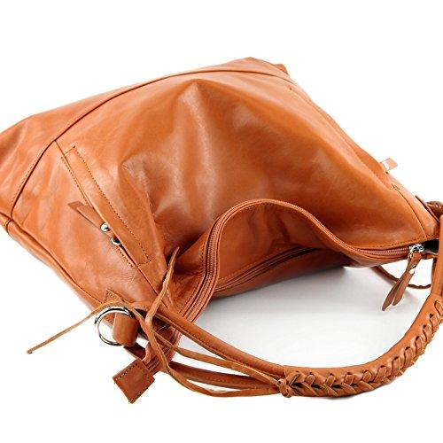 l'épaule Sac Italy porter pour Orangebraun femme à Made à w40xq5f5d