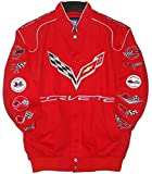 Authentic Corvette Racing Embroidered Cotton Jacket JH Design Red Size Xlarge