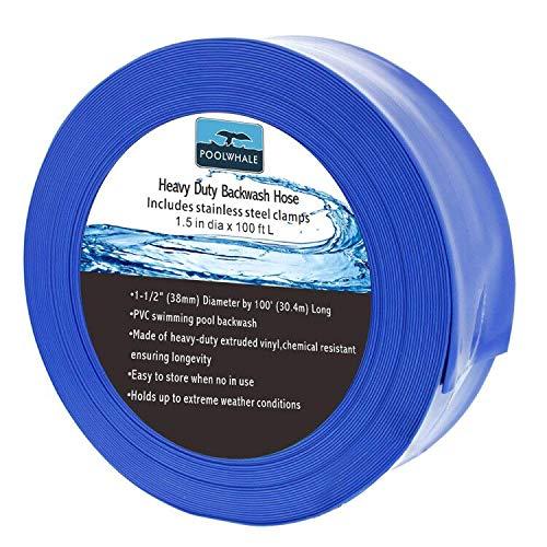 (POOLWHALE Economy Blue Backwash Hose(30.4m x 1-1/2