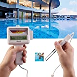 MatureGirl Chlorine PH Tester Kit - Electronic Water Quality Analysis Water Test Meter Swimming Pool Spa - Water Quality Measurement Monitor Checker (Silver)