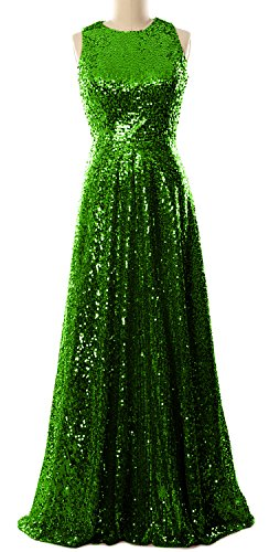 Prom Simple Elegant Gown Sequin Bridesmaid Long Gown Dress Green MACloth Evening OSwRqPq