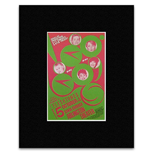 Stick It On Your Wall Go-Gos Fleshtones - Arlington Theater Santa Barbara 1981 Mini Poster - 25.4x20.3cm
