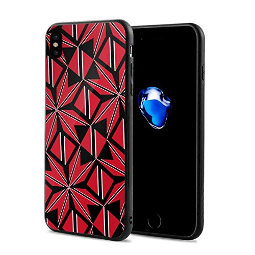 (Trinidad Tobago Flag Artascope Flower X Phone Case Compatible iPhone X/Xs Environmentally Friendly PC Materials 2.9 X 5.8)