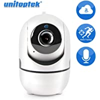 Security Camera Wireless IP Camera Auto Tracking Mini WiFi Cam Two Way Audio Home Security Surveillance CCTV Camera P2P Cloud Storage White