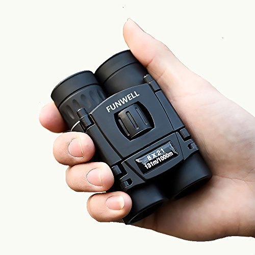 Mini Compact Lightweight 8x21 Small Binoculars for Concert Opera Sports Game Outdoors Hiking Travel Kids Bird Watching Christmas Gift by Funwell