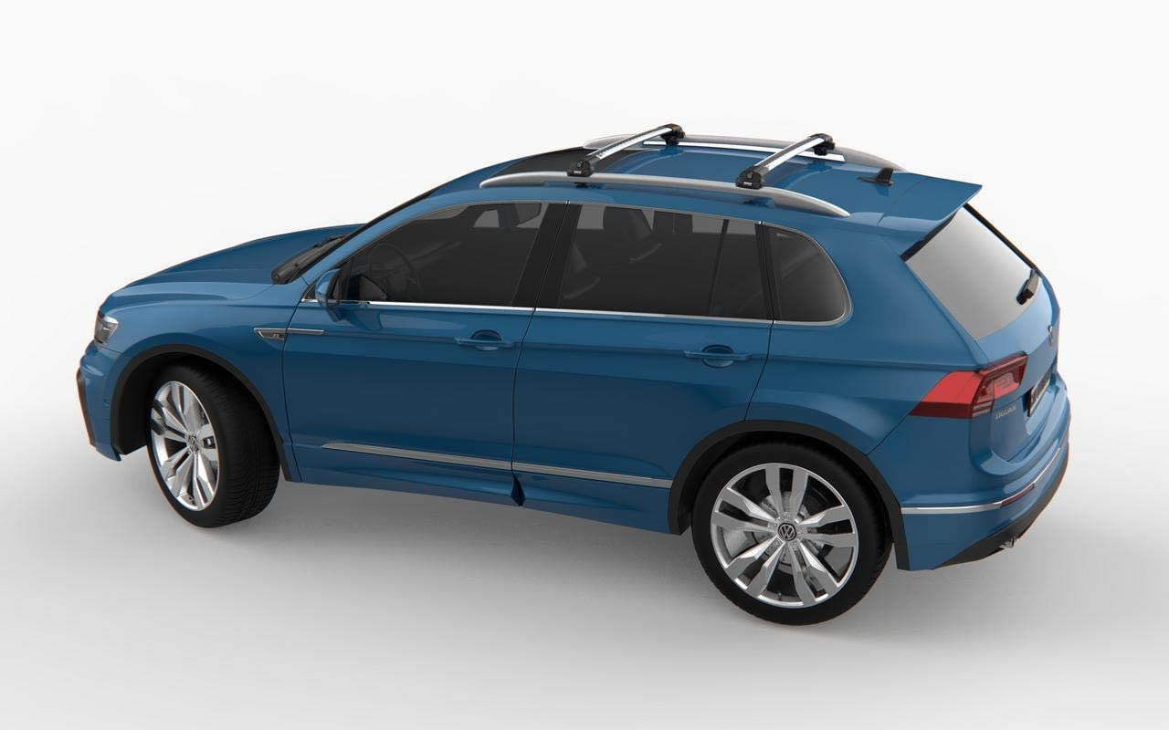 GREY ROOF RACK CROSS BARS ROOF RAILING LOCKABLE FOR VOLVO XC90 2003-2015